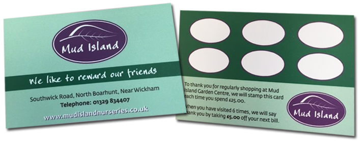 garden centre loyalty card