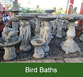 garden bird baths
