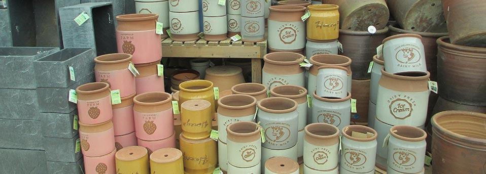 pottery pots planters