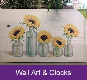 wall art and clocks